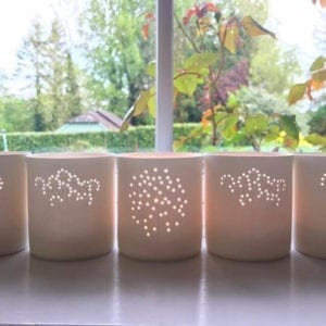 Allium Porcelain Tea-Light Holders