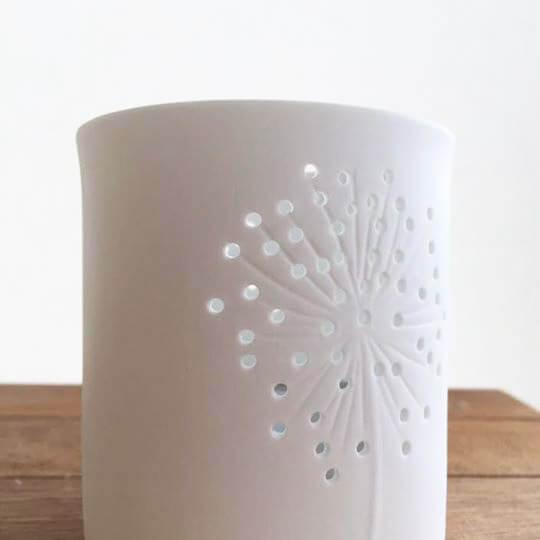 Allium Porcelain Tea-Light Holders Close Up