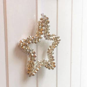 Champagne Bell Star Decoration