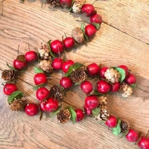 Crab Apple and Cone Garland 2