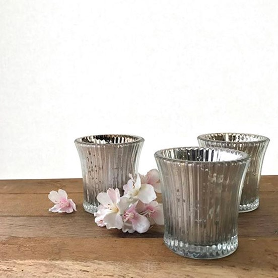 Fluted Silver Tea-Light Standard