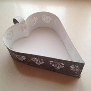 Heart Candle Holder with Heart Pin Hole Design