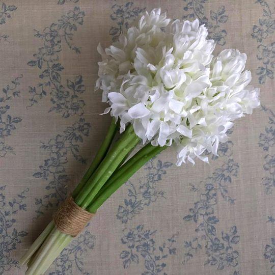 Ivory Silk Hyacinth Bundle