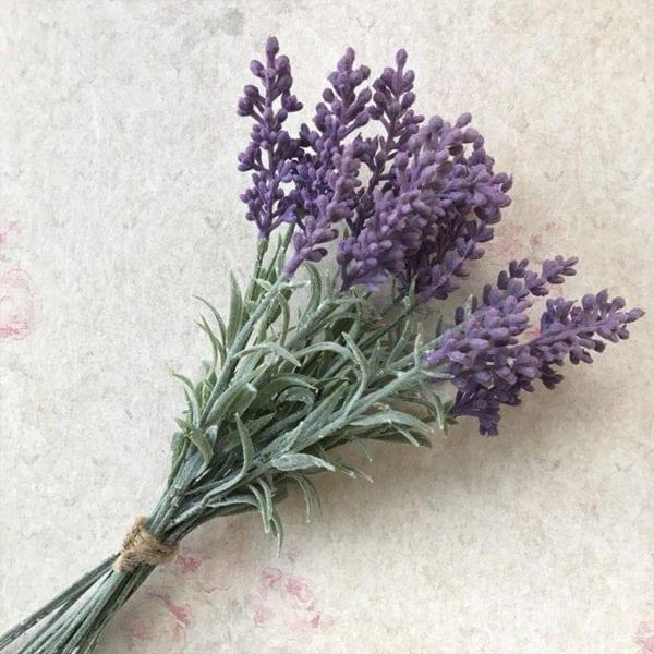 Lavender Posy Stem And Flower
