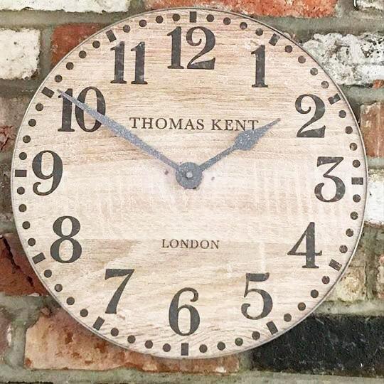 Scraped Oak Thomas Kent Wall Clock