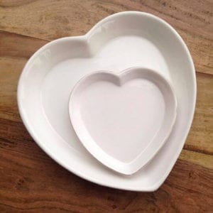 Set of Two Heart Plates