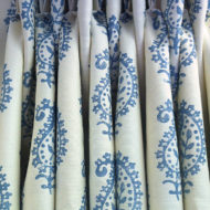 Bespoke Curtain Design - Blue White Floral - Sarah Norton Interiors
