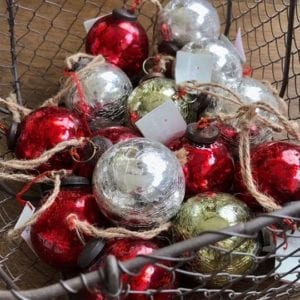 Crackle Glaze Baubles by Susie Watson Designs Assortment