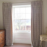 Floral White Green Zoomed Out Bespoke Curtains - Sarah Norton Interiors