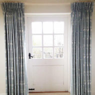 Grey Bespoke Curtains Draft Excluders- Sarah Norton Interiors