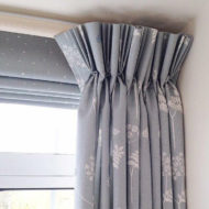 Grey Bespoke Curtains - Sarah Norton Interiors