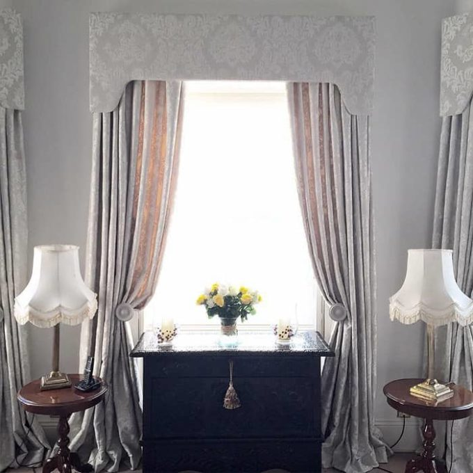 Grey Bespoke Curtains Window- Sarah Norton Interiors