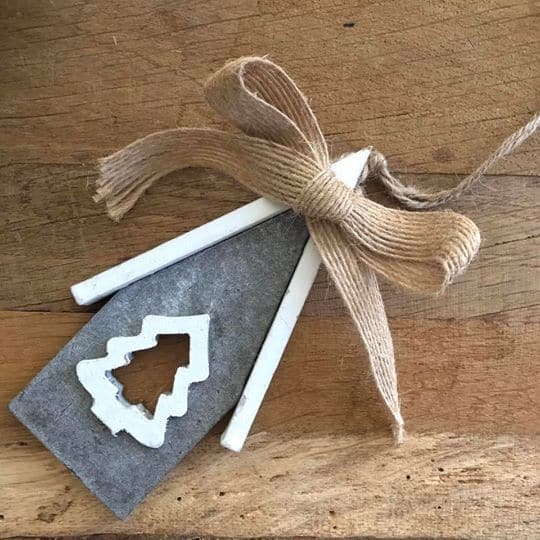 Grey Wooden House Decoration with Tree Cut Out