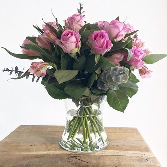 Large Hand-Tied Posy Vase Close Up