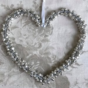 Large Silver Bell Heart