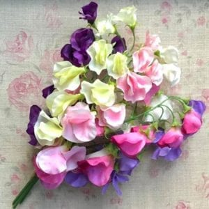 Mixed Silk Sweet Pea Posy