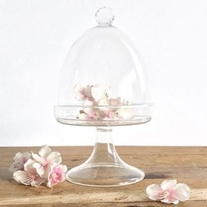 Muffin Cake Dome Stand with Crystal Cut Handle