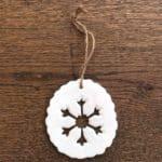 Porcelain Snowflake Decoration