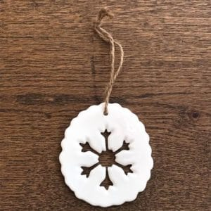 Porcelain Snowflake Decoration
