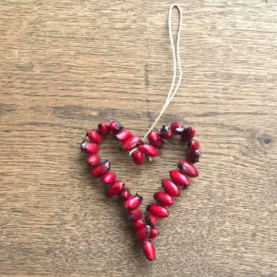 Rose hip Heart Decoration