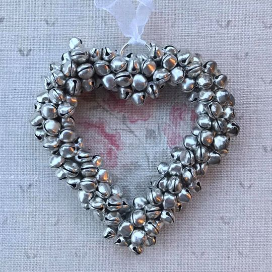 Save Small Silver Bell Heart Decoration