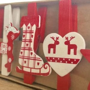 Scandinavian Christmas Peg Decorations