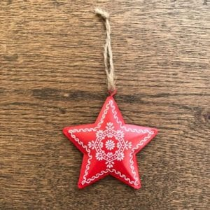 Share Save Tin Folk Art Star Decoration