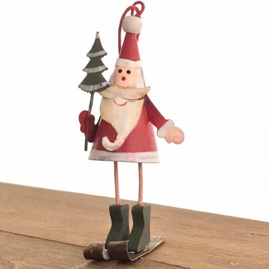 Skiing Santa Decoration
