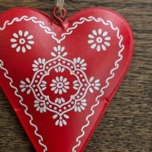 Tin Folk Art Heart