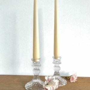 Vintage Style Glass Candle Holder Two