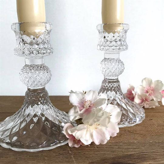 Vintage Style Glass Candle Holder