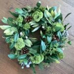 Woodland Foliage Wreath-Candle-Ring with Berries & Pine Cones