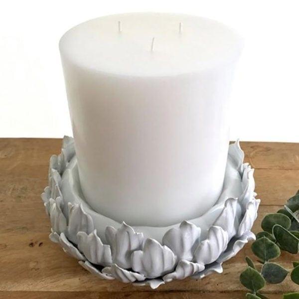 3 Wick Candle ~ 15cm x 15cm ~ White