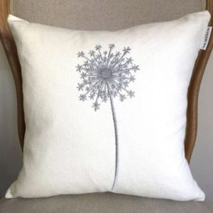 Allium Cushion - Ivory