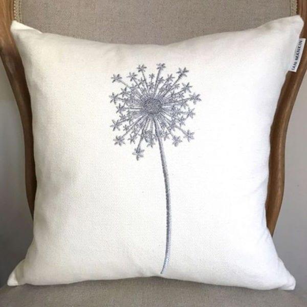 Allium Cushion - Ivory