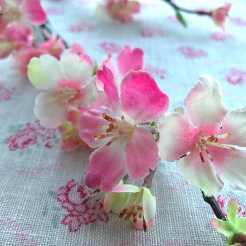 Cherry Blossom Branch - Pink background
