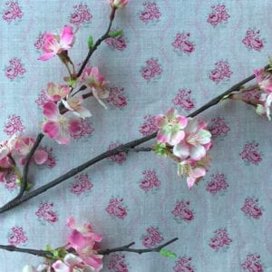 Cherry Blossom Branch - Pink background