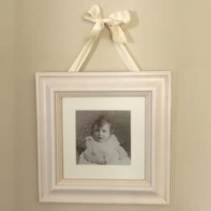 Cream Frame with Mount & Ribbon Hanger