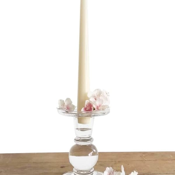 Dual Purpose Glass Candle Stick
