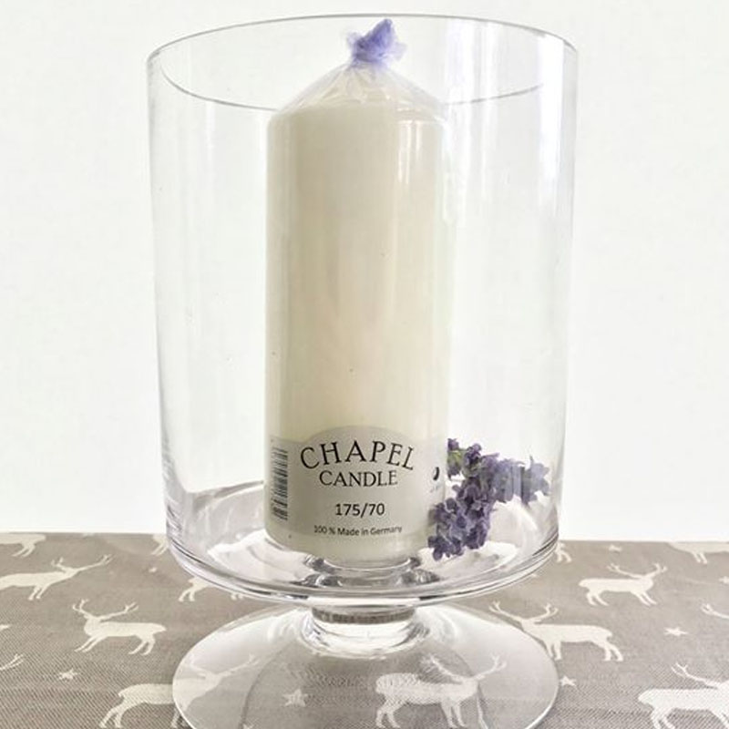 Glass Cylinder Vase on Base