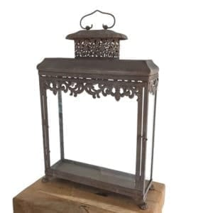 Large Rustic Lantern with Filigree Detail