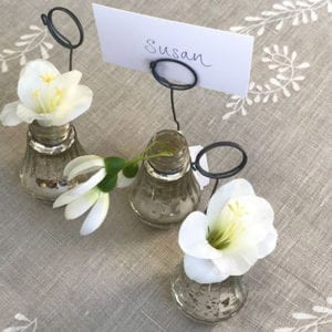 Mini Silver Place Setting Vase
