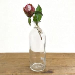 Narrow Necked Bottle with Heart Tag