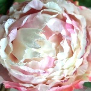 Peony Spray ~ Cream Pink Blush