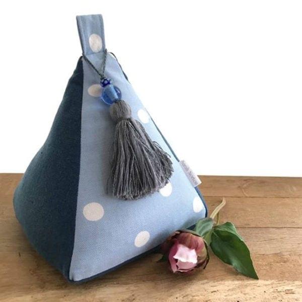 Pyramid Doorstop - Unscented Blue