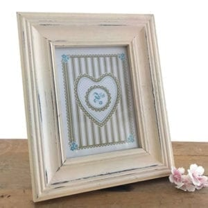 Rustic Picture Frame - Cream