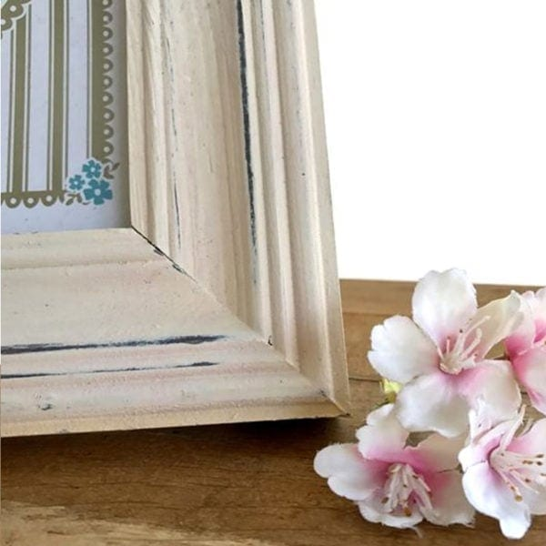Rustic Picture Frame - Cream Close Up
