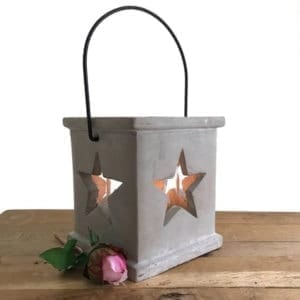 Star Lantern with Glass Insert