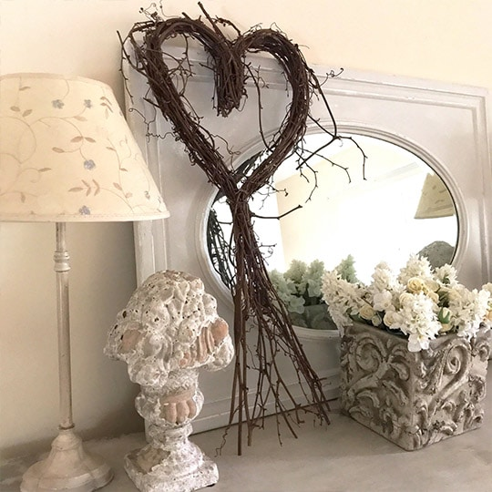 Sweetheart Twig Wreath New
