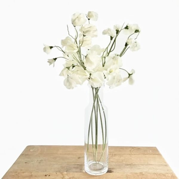 Tall Glass Bottle White